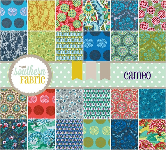 "Cameo by Amy Butler- 48- 5"" x 5"" Fabric Squares Charm Pack"