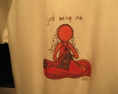 just being me. t-shirt by rachel awes.