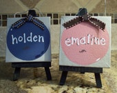 Hand-painted Canvas ornaments