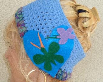 Women's headband crochet winter headband ski accessories