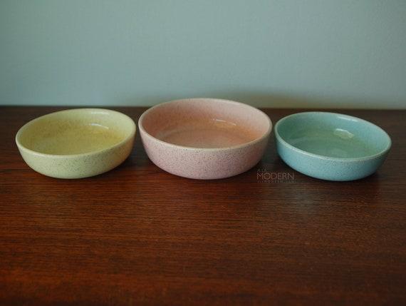 3 Bauer Brusche Speckled Bowls
