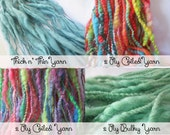 Custom Made Handspun  Yarn /Made to Order Handspun Yarn /Thick & Thin / Coiled Yarn / Super Bulky / Medium Weight / Waldorf Doll Hair