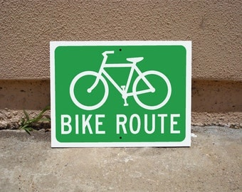 Bike Route Sign 12x9 Inch Aluminum Sign