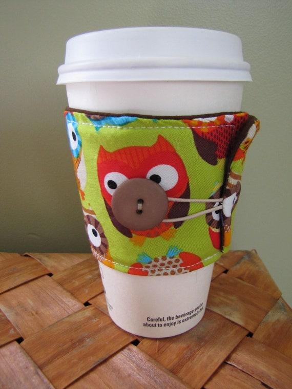 Owls Coffee Sleeve Cup Cozy