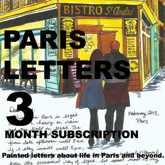 PARIS LETTERS: 3 painted letters about Paris