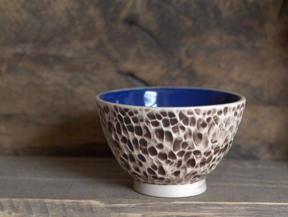 Seascape - porcelain bowl , earthy and textured