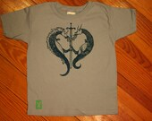 Light Blue Peace Dragon Shirt, XS