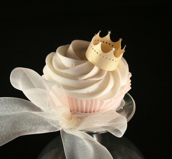550 Edible GOLD Crowns wafer paper, edible glitter