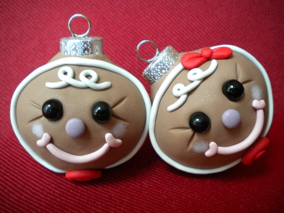 Gingerbread Christmas Decorations / Photo Holders