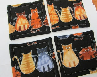 Cat Quilted Coasters (Set of 4)