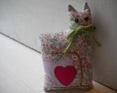 Floral Love Cat