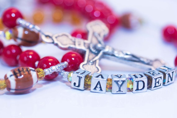 San Francisco 49ers Football Rosary Personalized