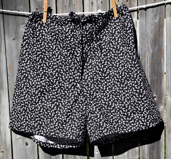Skull print pajama boxers shorts LARGE ready to ship