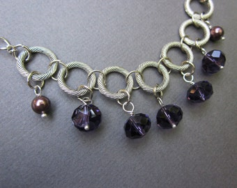 purple silver dangles - the honor necklace