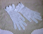 Vintage Crochet Gloves