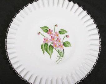 Fenton Handpainted Serving Plate
