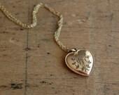 antique gold heart charm ∙ LAUREL
