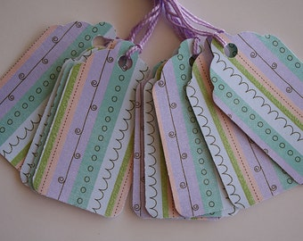Doodle Striped Gift Tags (10)
