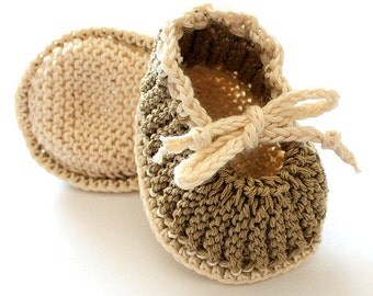 Knitting Pattern (PDF file) Baby Booties Purl and Knit  (sizes 0-3/3-6/6-12 months)