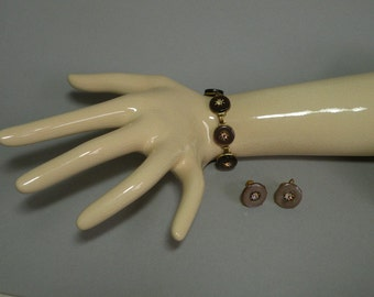 Taupe Lucite Bracelet & Earring Set