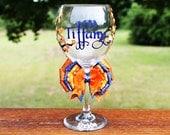 Custom Bridal Wedding Shower Bachelorette Personalized Bridesmaid Groom Groomsman Marriage Wine Glass