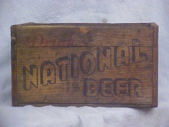 National Beer Wood  Crate