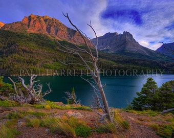 Fine Art Photography - Photo Art - Outdoor Photography - Lake St Marys - Glacier Naional Park - Montana -12 x 18 prints