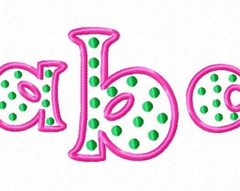 Polka Dots Monogram Font Alphabet - Machine Embroidery Designs