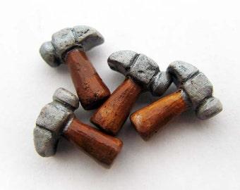 10 Tiny Hammer Beads