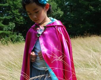 Fairy Princess Costume-Blue Raspberry Cape
