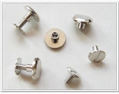 60sets  9mm x 6mm silver screws rivets Chicago screw/Concho screw