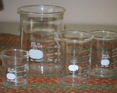Pyrex Lab Glassware, Mad Scientist, Halloween Decor, Graduated Flask