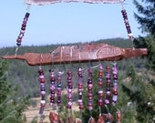 Wind Chimes...Obsidian Needles with Brazilian Agate