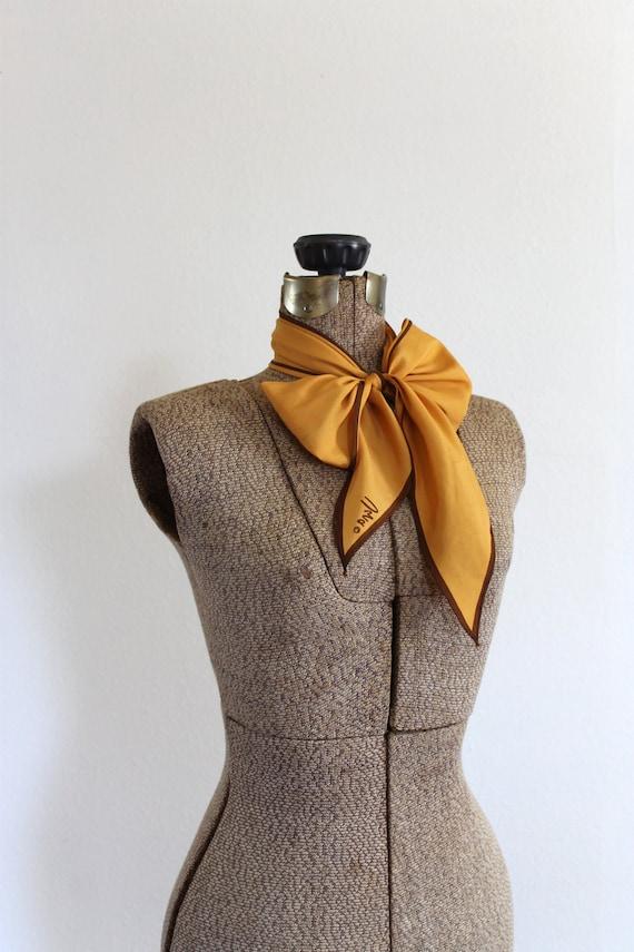 vintage vera scarf 1970s pumpkin and brown long lightweight 70s designer neck scarf / fallen foliage scarf