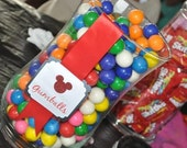 Mickey Mouse Inspired Candy Buffet Tags