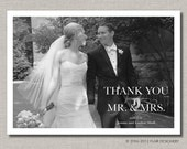 Wedding Thank You Card - Set of 100 Thank You Cards - Elegant Thanks by Abigail Christine Design