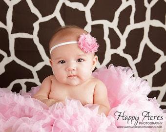 Rosie Pink Chiffon Rosette Flower Headband