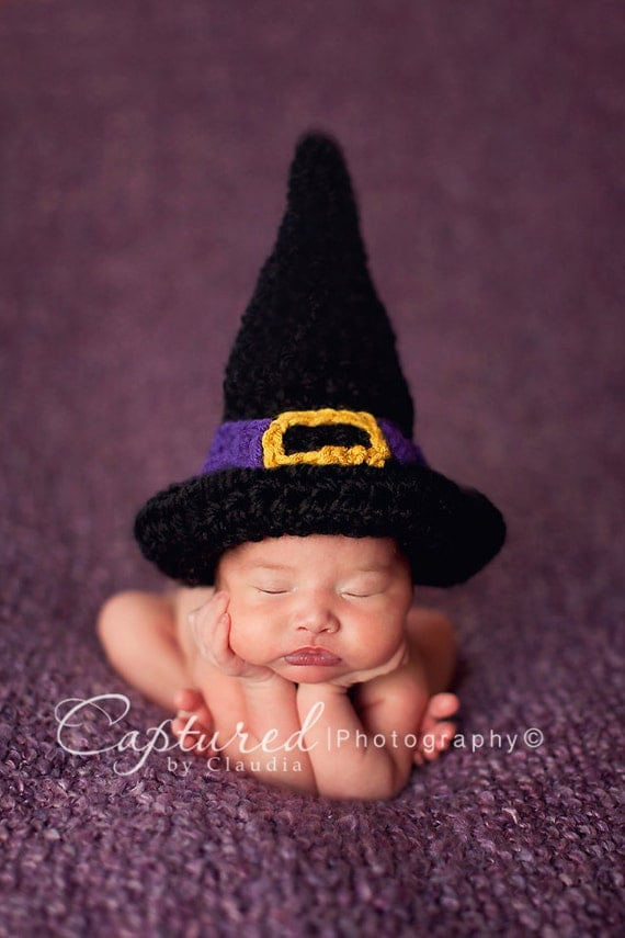 Newborn Crochet Witch Hat Pattern : Unavailable Listing on Etsy
