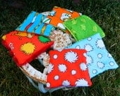 Set of 6 Lorax themed Bean Bags Dr Seuss Sensory