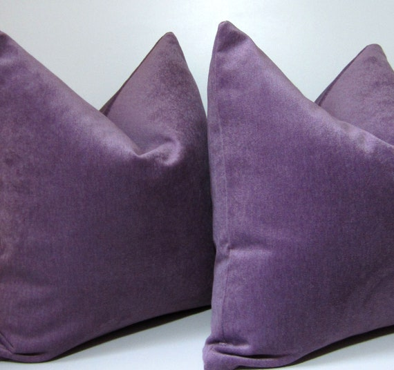 Decorative Pillow Lilac : Lilac Velvet Pillow Decorative Pillow Cover 20 by studiotullia