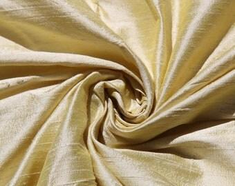 "Cream 100% Dupioni Silk Fabric Bridal Wholesale Roll/ Bolt 55"" wide"