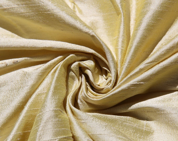 "Cream 100% Dupioni Silk Fabric Bridal Wholesale Roll/ Bolt 55"" wide"