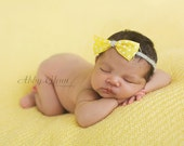 Set of Three Ribbon Bow Headbands for Baby, Beautiful Photography Prop