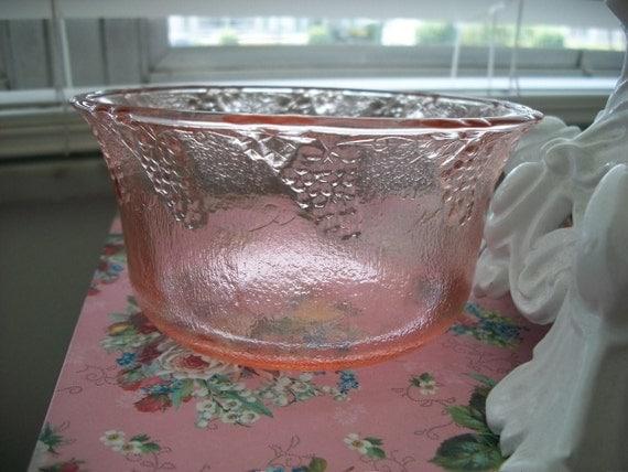 SALE Pink Glass Dish
