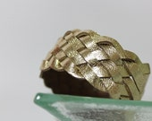 Summer Collection / Metallic Gold Braided Leather  Cuff Bracelet
