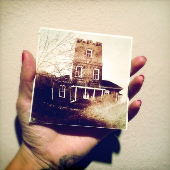Haunted Tower Photo 4x4 Fine Small Art print Gothic Home Decor collect something different, ttv style