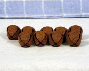 72- 20mm Rusty Bells, Jingle Bells, Metal, Craft Supplies, Primitive