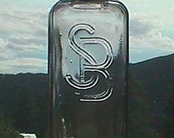 Large size SCHILLING Brand Extract bottle San Francisco w/ ORIGINAL glass STOPPER