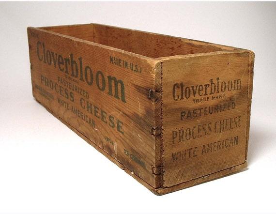 Vintage Wood Cheesebox by Cloverbloom - Large
