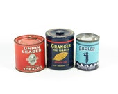 Vintage Tobacco Tin Collection Union Leader, Bugler, Granger Pipe Tobacco
